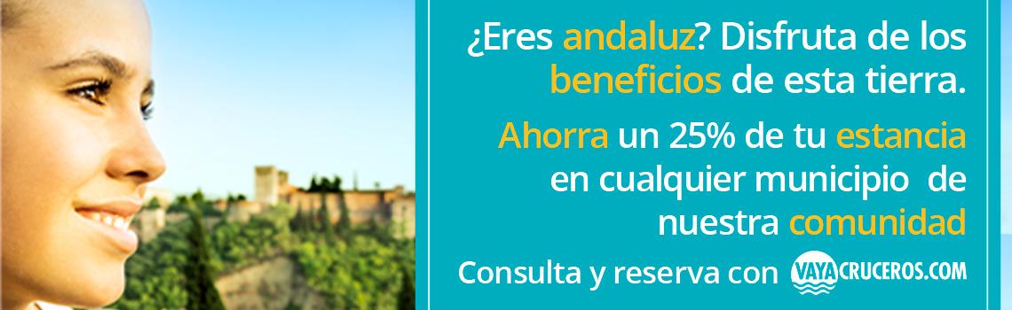 Banner de las condiciones de la promoción Bono Turístico Andalucía - ¿Eres Andaluz? Disfruta
