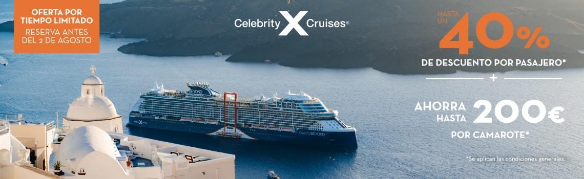 Oferta Celebrity Cruises septiembre. Hasta 700€ de descuento