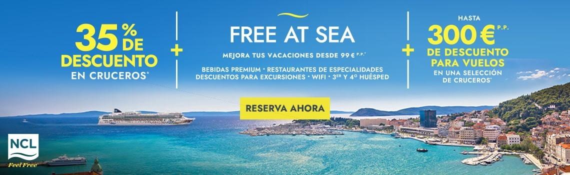 Ofertas cruceros NCL San Valentín