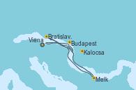 Visitando Viena (Austria), Melk (Austria), Bratislava (Eslovaquia), Kalocsa (Hungría), Budapest (Hungría), Budapest (Hungría), Viena (Austria), Viena (Austria)