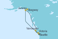 Visitando Seattle (Washington/EEUU), Juneau (Alaska), Skagway (Alaska), Victoria (Canadá), Vancouver (Canadá)