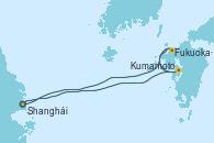 Visitando Shanghái (China), Fukuoka (Japón), Kumamoto (Japón), Shanghái (China)
