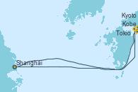 Visitando Shanghái (China), Kobe (Japón), Kobe (Japón), Kyoto (Japón), Tokio (Japón), Tokio (Japón), Shanghái (China)