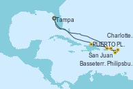 Visitando Tampa (Florida), San Juan (Puerto Rico), Philipsburg (St. Maarten), Basseterre (Antillas), Charlotte Amalie (St. Thomas), PUERTO PLATA, REPUBLICA DOMINICANA, Tampa (Florida)