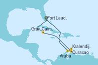 Visitando Fort Lauderdale (Florida/EEUU), Gran Caimán (Islas Caimán), Curacao (Antillas), Kralendijk (Antillas), Aruba (Antillas), Fort Lauderdale (Florida/EEUU)