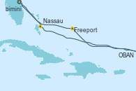 Visitando Puerto Cañaveral (Florida), Nassau (Bahamas), OBAN (HALFMOON BAY), Freeport (Bahamas), Puerto Cañaveral (Florida)