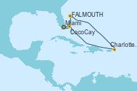 Visitando Miami (Florida/EEUU), St. John´s (Antigua y Barbuda), Charlotte Amalie (St. Thomas), CocoCay (Bahamas), Miami (Florida/EEUU)