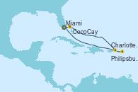 Visitando Miami (Florida/EEUU), CocoCay (Bahamas), Charlotte Amalie (St. Thomas), Philipsburg (St. Maarten), Miami (Florida/EEUU)