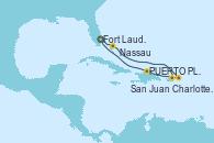 Visitando Fort Lauderdale (Florida/EEUU), Nassau (Bahamas), Charlotte Amalie (St. Thomas), San Juan (Puerto Rico), PUERTO PLATA, REPUBLICA DOMINICANA, Fort Lauderdale (Florida/EEUU)