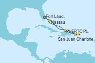 Visitando Fort Lauderdale (Florida/EEUU), PUERTO PLATA, REPUBLICA DOMINICANA, Charlotte Amalie (St. Thomas), San Juan (Puerto Rico), Nassau (Bahamas), Fort Lauderdale (Florida/EEUU)