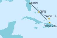 Visitando Puerto Cañaveral (Florida), OBAN (HALFMOON BAY), Grand Turks(Turks & Caicos), Amber Cove (República Dominicana), Puerto Cañaveral (Florida)