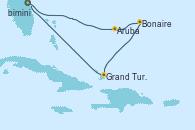 Visitando Puerto Cañaveral (Florida), Aruba (Antillas), Bonaire (Países Bajos), Grand Turks(Turks & Caicos), Puerto Cañaveral (Florida)