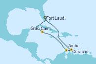 Visitando Fort Lauderdale (Florida/EEUU), Gran Caimán (Islas Caimán), Aruba (Antillas), Curacao (Antillas), Fort Lauderdale (Florida/EEUU)