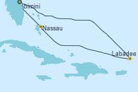 Visitando Puerto Cañaveral (Florida), Labadee (Haiti), Nassau (Bahamas), Puerto Cañaveral (Florida)