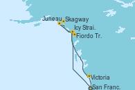 Visitando San Francisco (California/EEUU), Icy Strait Point (Alaska), Skagway (Alaska), Juneau (Alaska), Fiordo Tracy Arm (Alaska), Victoria (Canadá), San Francisco (California/EEUU)