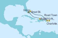 Visitando Puerto Cañaveral (Florida), Great Stirrup Cay (Bahamas), Charlotte Amalie (St. Thomas), Road Town (Isla Tórtola/Islas Vírgenes), PUERTO PLATA, REPUBLICA DOMINICANA, Puerto Cañaveral (Florida)