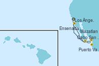 Visitando Los Ángeles (California), Cabo San Lucas (México), Puerto Vallarta (México), Mazatlan (México), Ensenada (México), Los Ángeles (California)