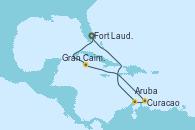 Visitando Fort Lauderdale (Florida/EEUU), Gran Caimán (Islas Caimán), Curacao (Antillas), Curacao (Antillas), Aruba (Antillas), Fort Lauderdale (Florida/EEUU)