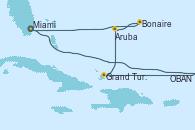 Visitando Miami (Florida/EEUU), OBAN (HALFMOON BAY), Grand Turks(Turks & Caicos), Aruba (Antillas), Bonaire (Países Bajos), Miami (Florida/EEUU)