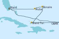 Visitando Miami (Florida/EEUU), OBAN (HALFMOON BAY), Grand Turks(Turks & Caicos), Bonaire (Países Bajos), Aruba (Antillas), Miami (Florida/EEUU)