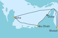 Visitando Dubai, Dubai, Abu Dhabi (Emiratos Árabes Unidos), Doha (Catar), Muscat (Omán), Dubai, Dubai