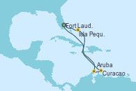 Visitando Fort Lauderdale (Florida/EEUU), Isla Pequeña (San Salvador/Bahamas), Aruba (Antillas), Curacao (Antillas), Fort Lauderdale (Florida/EEUU)
