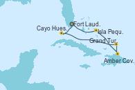 Visitando Fort Lauderdale (Florida/EEUU), Isla Pequeña (San Salvador/Bahamas), Amber Cove (República Dominicana), Grand Turks(Turks & Caicos), Cayo Hueso (Key West/Florida), Fort Lauderdale (Florida/EEUU)