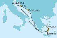 Visitando Venecia (Italia), Dubrovnik (Croacia), Mykonos (Grecia), Santorini (Grecia), Split (Croacia), Venecia (Italia)