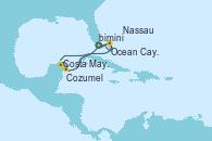Visitando Puerto Cañaveral (Florida), Ocean Cay MSC Marine Reserve (Bahamas), Ocean Cay MSC Marine Reserve (Bahamas), Costa Maya (México), Cozumel (México), Puerto Cañaveral (Florida), Nassau (Bahamas), Ocean Cay MSC Marine Reserve (Bahamas), Ocean Cay MSC Marine Reserve (Bahamas), Puerto Cañaveral (Florida)