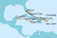 Visitando Miami (Florida/EEUU), Ocho Ríos (Jamaica), Gran Caimán (Islas Caimán), Cozumel (México), Ocean Cay MSC Marine Reserve (Bahamas), Miami (Florida/EEUU), San Juan (Puerto Rico), San Juan (Puerto Rico), Charlotte Amalie (St. Thomas), PUERTO PLATA, REPUBLICA DOMINICANA, Ocean Cay MSC Marine Reserve (Bahamas), Miami (Florida/EEUU)