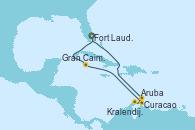 Visitando Fort Lauderdale (Florida/EEUU), Gran Caimán (Islas Caimán), Curacao (Antillas), Aruba (Antillas), Kralendijk (Antillas), Fort Lauderdale (Florida/EEUU)