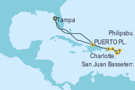 Visitando Tampa (Florida), PUERTO PLATA, REPUBLICA DOMINICANA, Charlotte Amalie (St. Thomas), Basseterre (Antillas), Philipsburg (St. Maarten), San Juan (Puerto Rico), Tampa (Florida)