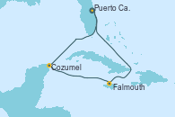 Visitando Puerto Cañaveral (Florida), Cozumel (México), Falmouth (Jamaica), Puerto Cañaveral (Florida)