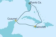 Visitando Puerto Cañaveral (Florida), Falmouth (Jamaica), Cozumel (México), Puerto Cañaveral (Florida)