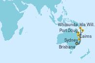 Visitando Sydney (Australia), Isla Willis (Australia), Port Douglas (Australia), Cairns (Australia), Whitsunday Island (Australia), Brisbane (Australia), Sydney (Australia), Sydney (Australia)