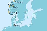 Visitando Kiel (Alemania), Bergen (Noruega), Aalesund (Noruega), Flam (Noruega), Stavanger (Noruega), Kiel (Alemania)