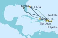 Visitando Tampa (Florida), San Juan (Puerto Rico), Philipsburg (St. Maarten), St. John´s (Antigua y Barbuda), Charlotte Amalie (St. Thomas), PUERTO PLATA, REPUBLICA DOMINICANA, Tampa (Florida)