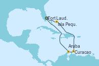 Visitando Fort Lauderdale (Florida/EEUU), Isla Pequeña (San Salvador/Bahamas), Curacao (Antillas), Aruba (Antillas), Fort Lauderdale (Florida/EEUU)