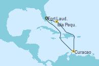 Visitando Fort Lauderdale (Florida/EEUU), Isla Pequeña (San Salvador/Bahamas), Curacao (Antillas), Curacao (Antillas), Fort Lauderdale (Florida/EEUU)