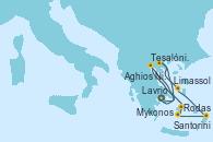 Visitando Lavrio (Grecia), Tesalónica (Grecia), Mykonos (Grecia), Mykonos (Grecia), Santorini (Grecia), Rodas (Grecia), Limassol (Chipre), Aghios Nikolaos (Grecia), Lavrio (Grecia)