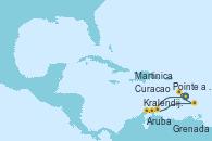 Visitando Pointe a Pitre (Guadalupe), Kralendijk (Antillas), Aruba (Antillas), Curacao (Antillas), Grenada (Antillas), Martinica (Antillas), Pointe a Pitre (Guadalupe)