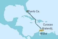 Visitando Puerto Cañaveral (Florida), Aruba (Antillas), Kralendijk (Antillas), Curacao (Antillas), Puerto Cañaveral (Florida)