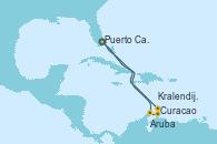 Visitando Puerto Cañaveral (Florida), Aruba (Antillas), Curacao (Antillas), Kralendijk (Antillas), Puerto Cañaveral (Florida)