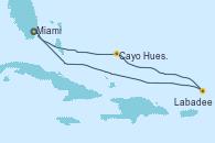 Visitando Miami (Florida/EEUU), Cayo Hueso (Key West/Florida), Labadee (Haiti), Miami (Florida/EEUU)