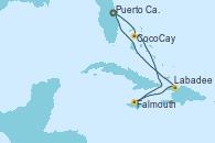 Visitando Puerto Cañaveral (Florida), CocoCay (Bahamas), Falmouth (Jamaica), Labadee (Haiti), Puerto Cañaveral (Florida)