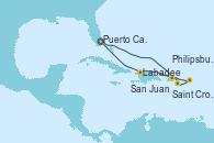 Visitando Puerto Cañaveral (Florida), Saint Croix (Islas Vírgenes), Philipsburg (St. Maarten), San Juan (Puerto Rico), Labadee (Haiti), Puerto Cañaveral (Florida)