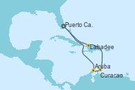 Visitando Puerto Cañaveral (Florida), Aruba (Antillas), Curacao (Antillas), Labadee (Haiti), Puerto Cañaveral (Florida)