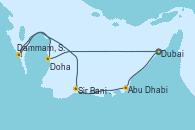 Visitando Dubai, Abu Dhabi (Emiratos Árabes Unidos), Sir Bani Yas Is (Emiratos Árabes Unidos), Dammam, Saudi Arabia, Doha (Catar), Dubai, Dubai