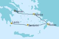 Visitando Atenas (Grecia), Patmos (Grecia), Rodas (Grecia), Santorini (Grecia), Lavrio (Grecia)