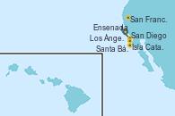 Visitando Los Ángeles (California), Santa Bárbara (California), San Francisco (California/EEUU), San Diego (California/EEUU), Ensenada (México), Los Ángeles (California)